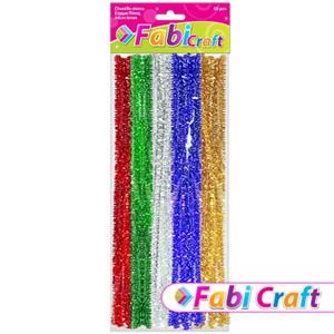 Σύρμα-Πίπας-Μεταλλιζέ-Fabi-0.6x30cm-50τεμ-5-Χρώματα