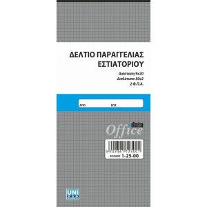 ΔΕΛΤΙΑ ΠΑΡΑΓΓΕΛΙΩΝ - ΕΣΤΙΑΤΟΡΙΩΝ